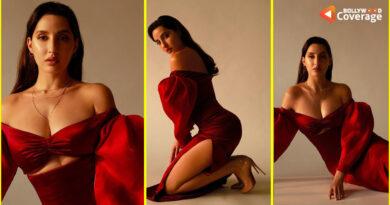 नोरा फतेही ने रेड ड्रेस में ढाया कहर, वायरल तस्वीरों ने सोशल मीडिया पर बढ़ाया पारा
